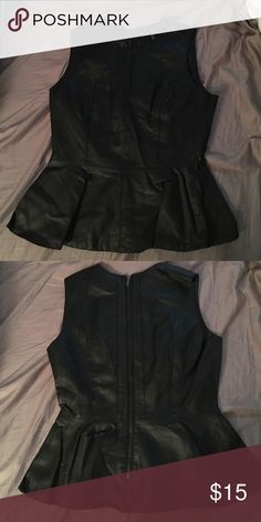 Never, ever been worn faux leather peplum top Never, ever been worn faux leather peplum top. Forever 21 Tops
