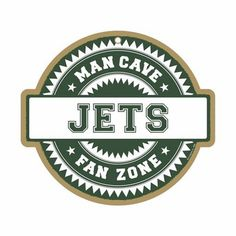 New York Jets Man Cave Fan Zone Wood Sign