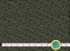 Designer Fabric By the Yard Dark Green Tonal by QuiltingGarden, $8.75