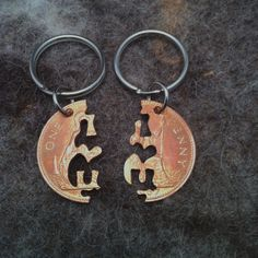 I love U coin key chain set via Etsy - fabulous gift - she also does bff options and multiple options that would be good for groups of friends..