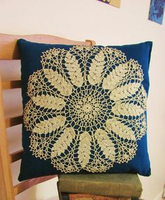 yes please, doily pillow.