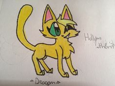 Drawn for the Shocking Sagecat. I tried to outline it in sharpie. Drawn by DragonWingz