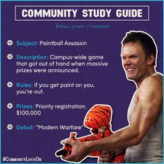 Today's Lesson: Paintball Assassin #CommunityLivesOn #CommunityStudyGuide