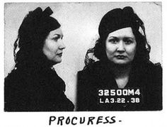 Female mug shots from the 30s and 40s