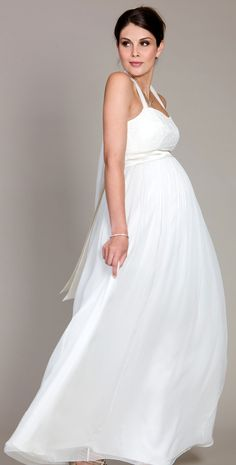 Tank Top Maternity Wedding Gowns