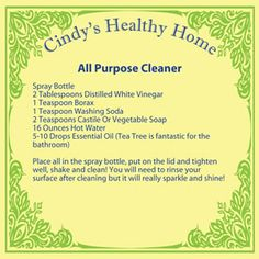 """Love this....its even named after """"OCD me"""" non toxic cleaning recipes"""