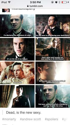 The special was the first episode I've ever watched and Moriarty was so powerful and evil he very much got my attention, almost as Sherlock. You know, trying to be in their minds Benedict Cumberbatch, Benedict Sherlock, Sherlock John, Sherlock Holmes Bbc, Sherlock Fandom, Sherlock Quotes, Andrew Scott, Johnlock, Destiel
