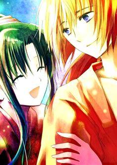 Rurouni Kenshin - Kenshin Himura x Kaoru Kamiya - KenKao Real Anime, I Love Anime, Me Me Me Anime, Kenshin Y Kaoru, Kenshin Anime, Kenshin Le Vagabond, Samurai, Dramas, Manga Anime