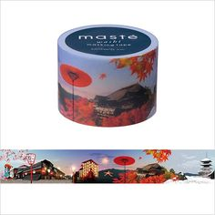 Japanese Washi Tape / Masking tape Multi Kyoto /masté, Item Code: Find a wide assortment of cute washi tape for packaging, crafts and decor at Online MARK'S. Washi Tape Crafts, Duck Tape Crafts, Washi Tapes, Paper Tape, All Paper, Note Paper, Bujo, Design Tape, Duct Tape Flowers