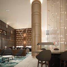 The final rendering for our #lobby #design at the soon to be renovated Sheraton hotel in Downtown #LA #mccartan #colummccartan #hotel #hospitality