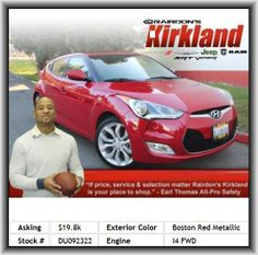2013 Hyundai Veloster Base Coupe  Fuel Capacity: 13.2 Gal., Clock: In-Dash, Strut Front Suspension, Vehicle Emissions: Ulev Ii, 4-Wheel Abs Brakes, Front Independent Suspension, Bluetooth Wireless Phone Connectivity, Heated Driver Mirror, Rear Hip Room: 52.6, Siriusxm Am/Fm/Satellite Radio, Overhead Console: Mini With Storage, Rear Bench, Heated Passenger Mirror, Interior Air Filtration