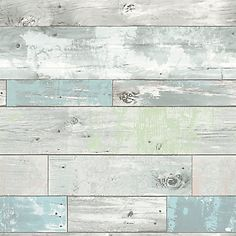 """Create your own rustic haven with this chic peel and stick wallpaper! Giving walls the look of weathered wood with hints of soft pale color, this authentic looking design is not only beautiful but so easy to install. Printed on a premium peel and stick material that is totally removable and will not damage walls, this perfect solution for refreshing your home saves you both the time and hassle of ordinary wallpaper. Comes on a 20.5"""" x 18' roll."""