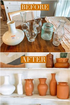 DIY terracotta vases.
