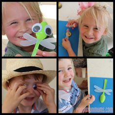 Easy & Fun Kids Craft Idea spoon dragonfly