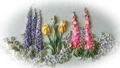 Spring Garden silk Ribbon Pattern and Print Kit by lornabateman22 - $15 for kit, $5 for just the pdf pattern