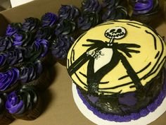 Jack the Skeleton Cake and Cupcakes