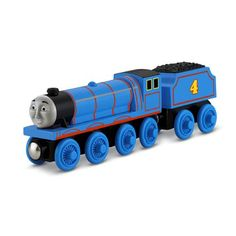 This is Gordon, it is a Big Express Engine train from the series but being a toy, sizes are most likely the same. Gordon is imprinted with a number 4. It has different face compared to Thomas and Edward. This wooden train toy is a chance for you and your kids to expand their Thomas the Train world.