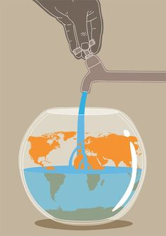 Illustration,  conceptual, editorial, water shortage, climate change, Federico Gastaldi, Salzmanart