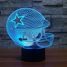 NFL DALLAS COWBOYS 3D LED LIGHT LAMP Show your sport for your NFL team with these new NFL Led Light Lamps! This light features seven colors that will add the perfect cast of light to your home. Just s