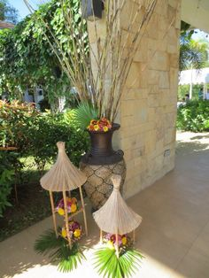 Asian Themed Event--Entrance Decor Balinese Inspired.