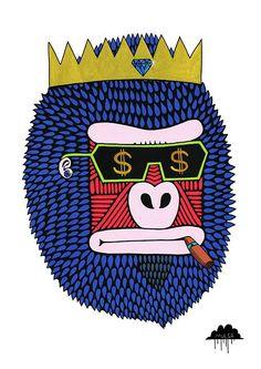 <3 Mulga The Artist King Bling Bruce http://mulgatheartist.tumblr.com/