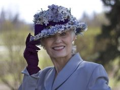 What a beautiful spring hat, from the Style Crone blog... #Hat Attack 33   2016