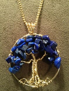 Lapis Tree of Life Hand Wire Wrapped Pendant by Just4FunDesign, $25.00