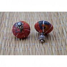 Multi color terracotta bela studs earring
