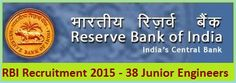The Reserve Bank of India shortly known by RBI was established on 01-04-1935 with its central office at Calcutta. The central office of the bank has shifted permanently in Mumbai in the state of Maharashtra. They has published the recruitment notification for the post of Junior Engineers in Civil & Electrical discipline. Candidates can be checked the eligibility by age, qualification - See more at: http://www.recruitpapa.com/2015/01/rbi-recruitment-2015-38-junior.html