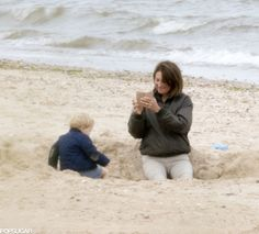 Prince George and Carole Middleton on the Beach | POPSUGAR Celebrity