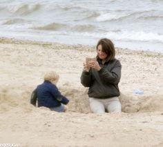Prince George and Carole Middleton on the Beach | POPSUGAR Celebrity