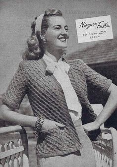 1959 Vintage KNITTING Pattern By VOGUE V111
