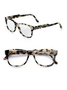 cc02acf8582 Oversized Square Optical Glasses Grey Tortoise Print  245.0 by Saks Fifth  Avenue Prada Eyeglasses