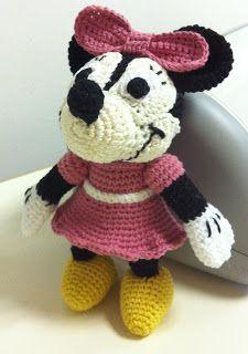 EL DESVÁN DE LOS AMIGURUMIS: Amigurumi Disney Minnie Mouse: patrón                                                                                                                             Más