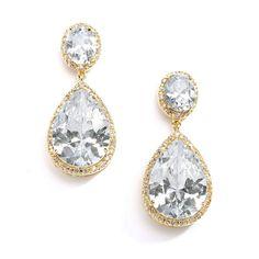 Sieraden - Oorbellen - Bruid - Bruidsoorbellen - Oorbellen bruid - Bridal jewellery - Rose gold earring - Rose gold - Crystal earrings _ Oorbellen bruid crystals - Oorbellen Swarovski