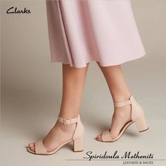 Shop Women's Deva Mae pumps in blush leather. Pink Leather, Leather Pumps, Clarks, Cuir Rose, Shoe Shop, Block Heels, Character Shoes, Heeled Mules