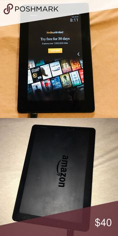 Amazon Kindle Fire HD 3rd generation Amazon Kindle Fire barely used. My son received it as a gift and used it maybe a total of 2-3 times. WiFi capable with silk browser and software up to date! Accessories