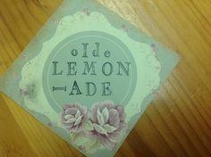 An ol style lemonade lable