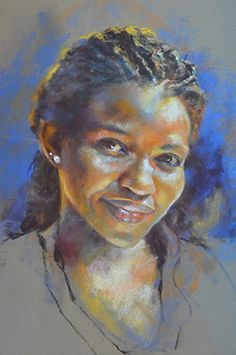 Unison soft pastel portrait on sansfix sanded paper. All images © Margaret Ferguson Fine Art. Pastel Portraits, Watercolor Portraits, Watercolor Art, Art And Illustration, Figure Painting, Painting & Drawing, Art Afro, Chalk Pastel Art, Pastel Paintings
