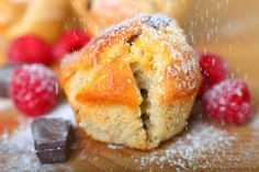 A recipe for muffins which can be fruit or chocolate, depending on preference