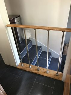 I have not yet heard back if this wood railing was completed with doors and drawers.