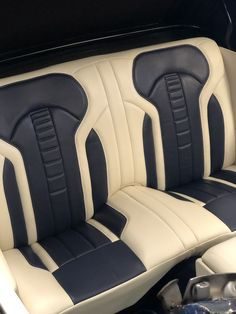 Custom Car Interior, Car Interior Design, Interior Concept, 1966 Chevy Truck, Chevrolet Camaro 1969, Automotive Upholstery, Car Upholstery, American Racing Wheels, Leather Seat Covers