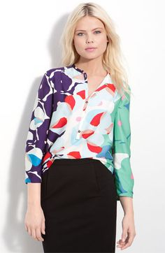 DVF 'Whista' silk blouse