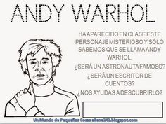 Printables to use with an Andy Warhol lesson from The