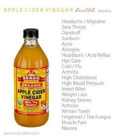 20+ Health Uses for Apple Cider Vinegar by Elnahna