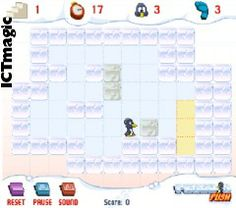 A strategy game where player must use the penguin to push blocks to a location on the screen. Don't get stuck!