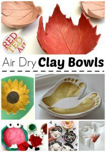 Air Dry Clay Bowls