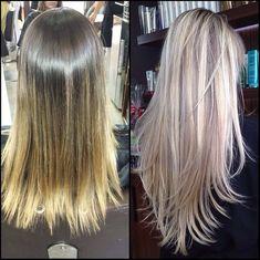 cabelo com luzes loiras champanhe - Pesquisa Google