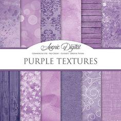 Shabby chic Purple textures Digital Paper