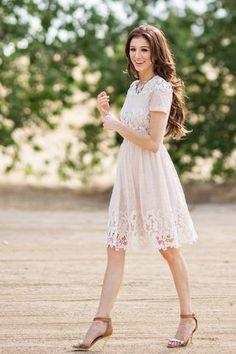 Julianne Cream Lace Dress